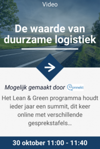 Lean & Green Week van de Logistiek