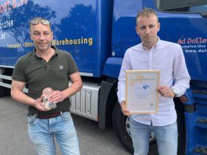Dollevoet ontvangt 1e Lean & Green Star